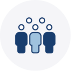 People collaborating icon